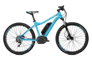 Cyjankowy elektryczny rower górski