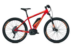 Pomarańczowy elektryczny rower górski - Focus